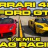Ferrari 488 vs Ford GT Racing