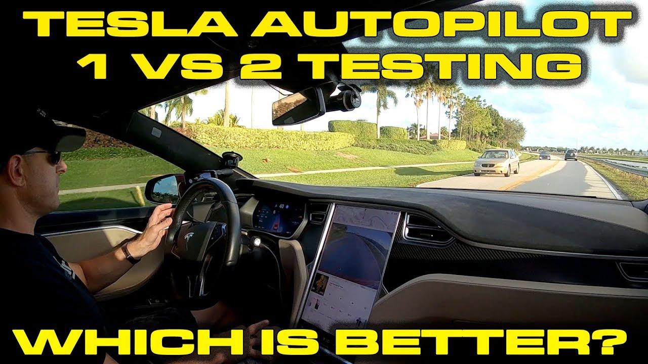 Tesla Autopilot 1 vs 2