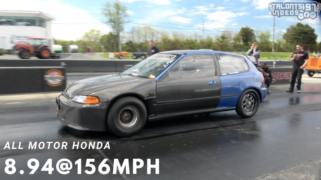 All Motor Outlaw World Record Honda Civic