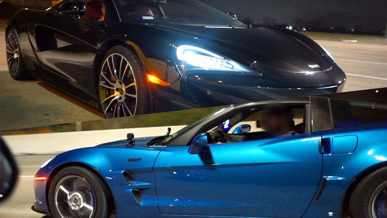 McLaren 570S Street Hits – ZR1, Mustang, Hellcat