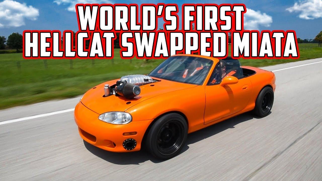 Hellcat Swapped Mazda Miata – Dyno and Street Hits