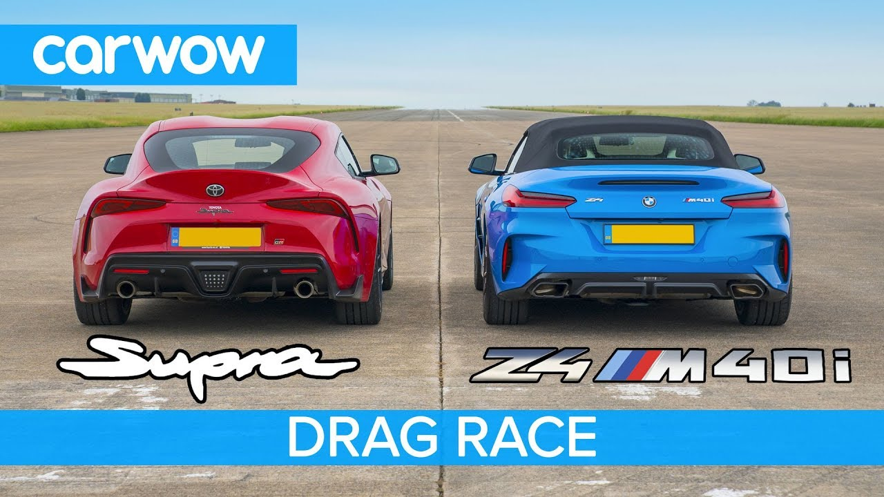 Toyota Supra vs. BMW Z4 M40i – Drag and Roll Races