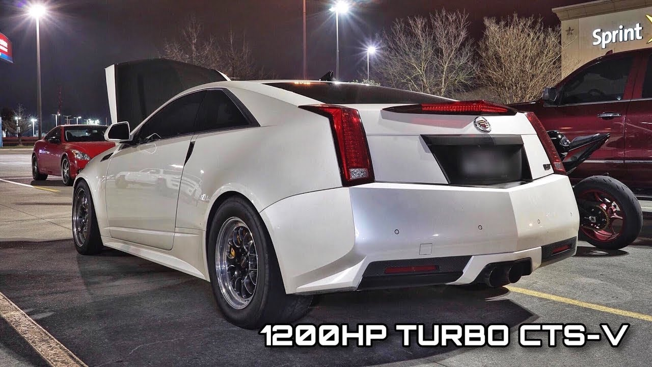 Twin Turbo CTS-V vs. 1000HP Supra – Street Hits
