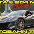 Ferrari Pista Autobahn Testing