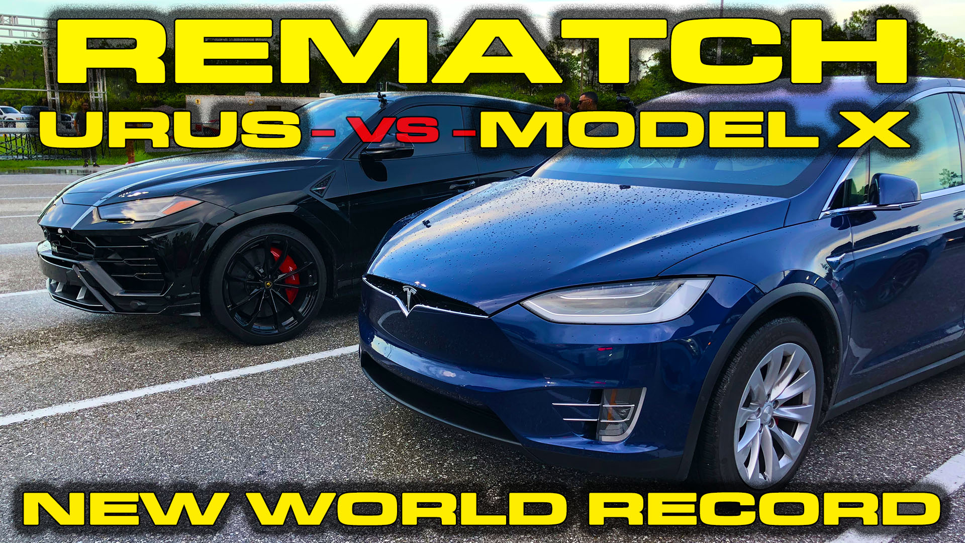 Tesla Model X Raven Ludicrous vs Lamborghini Urus 1/4 Mile Drag Race