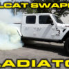 White 2020 Jeep Gladiator with Hellcat Engine Swapped In