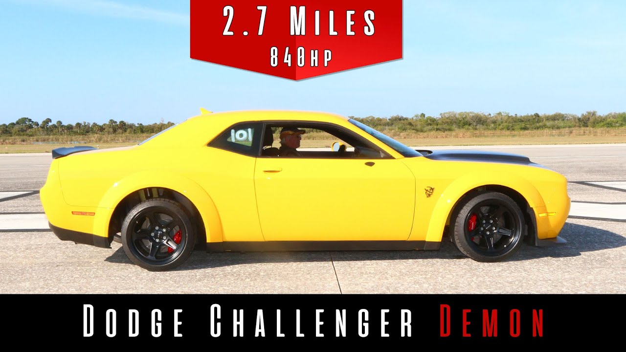 2018 Dodge Challenger Demon – Top Speed Test | DragTimes com