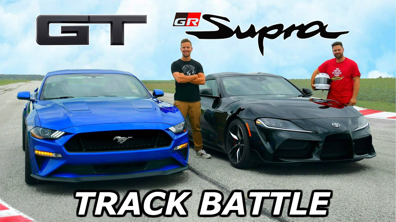 New Toyota Supra vs. Ford Mustang – Drag and Roll