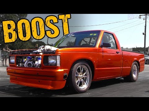 8-Second Twin Turbo S10 Pickup – Drag Racing