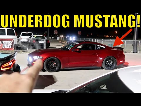 Underdog EcoBoost Mustang vs. ZL1 Camaro and Dodge Demon