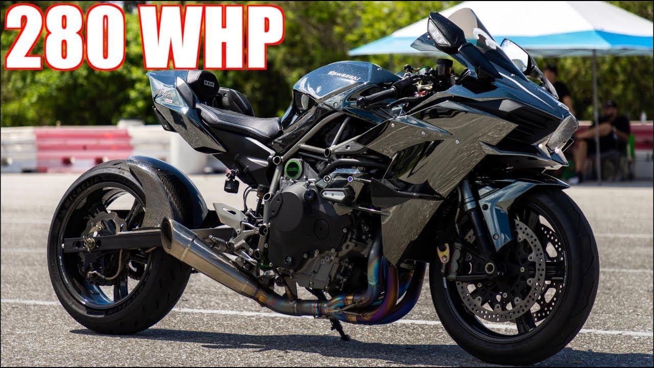 1100HP EVO IX vs. 280WHP Ninja H2 – Track Hits