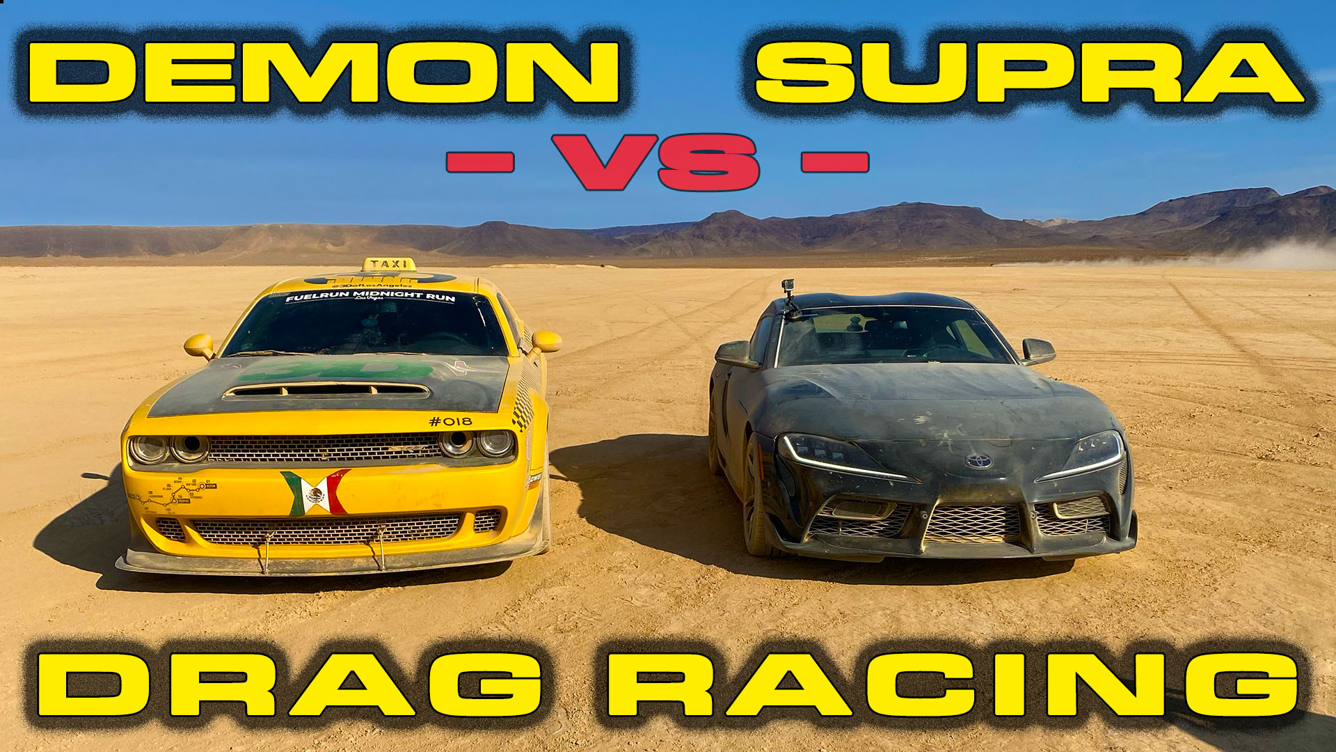 2020 Toyota Supra MKV vs Dodge Demon