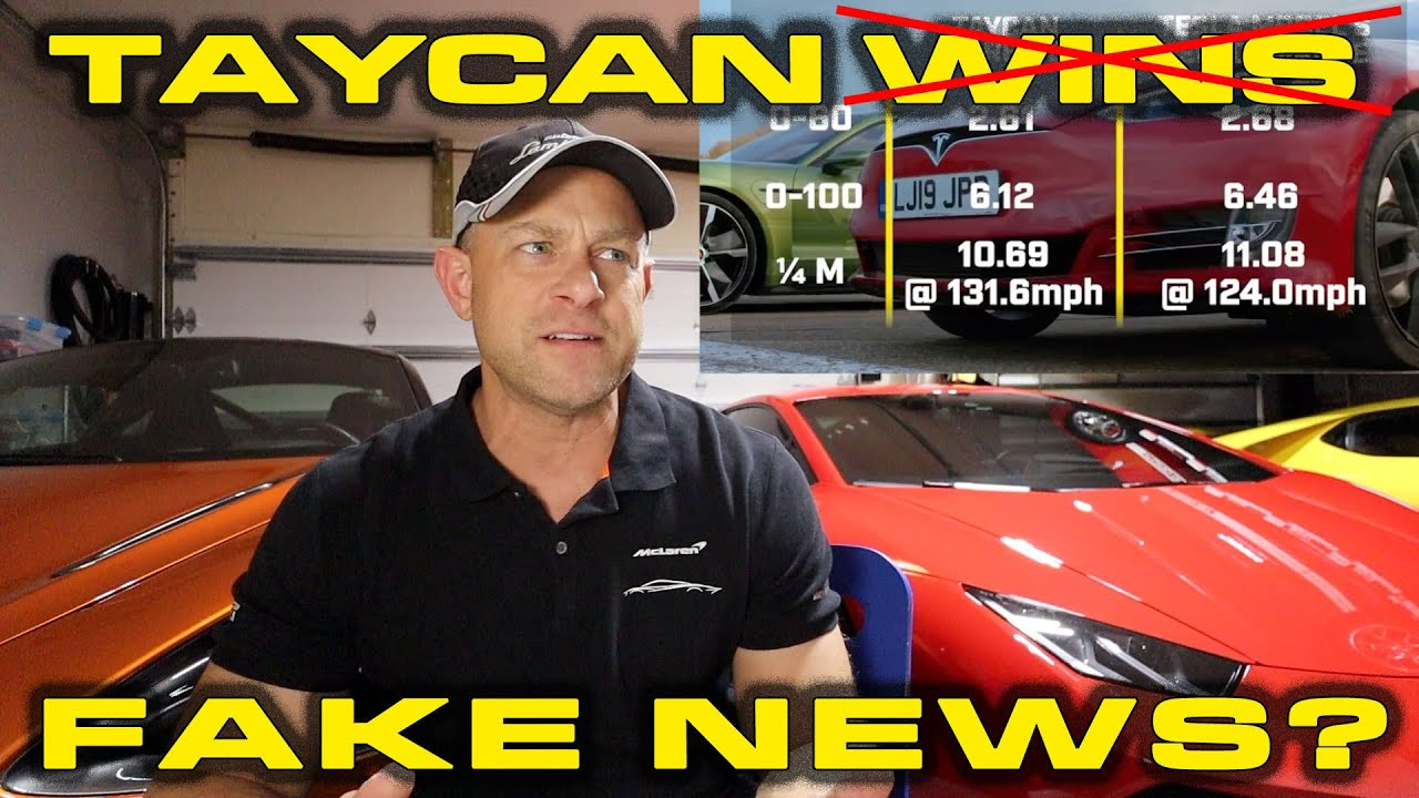 FAKE NEWS * Top Gear used OLD test Numbers for Porsche Taycan Turbo S vs Tesla Model S Race