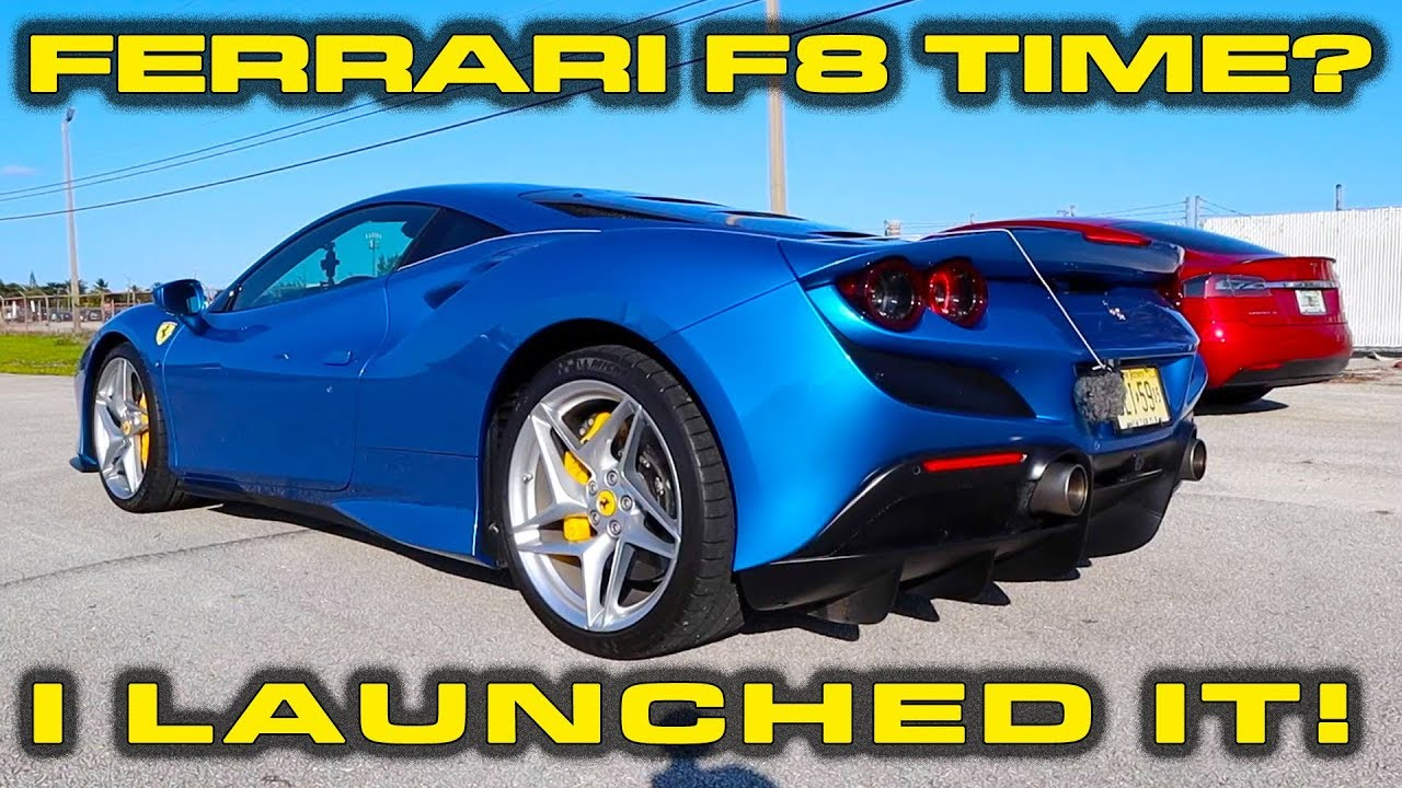 Ferrari F8 Tributo Review and Launch Control to 0-60 MPH Demonstration