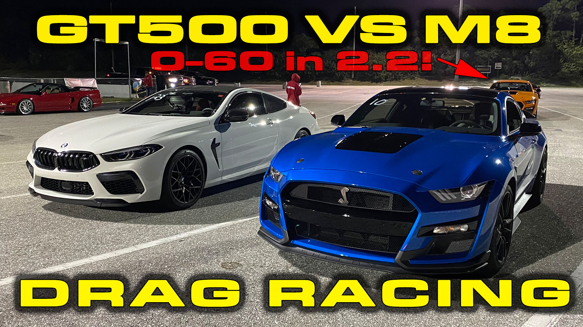 GT500 vs M8 Drag Racing