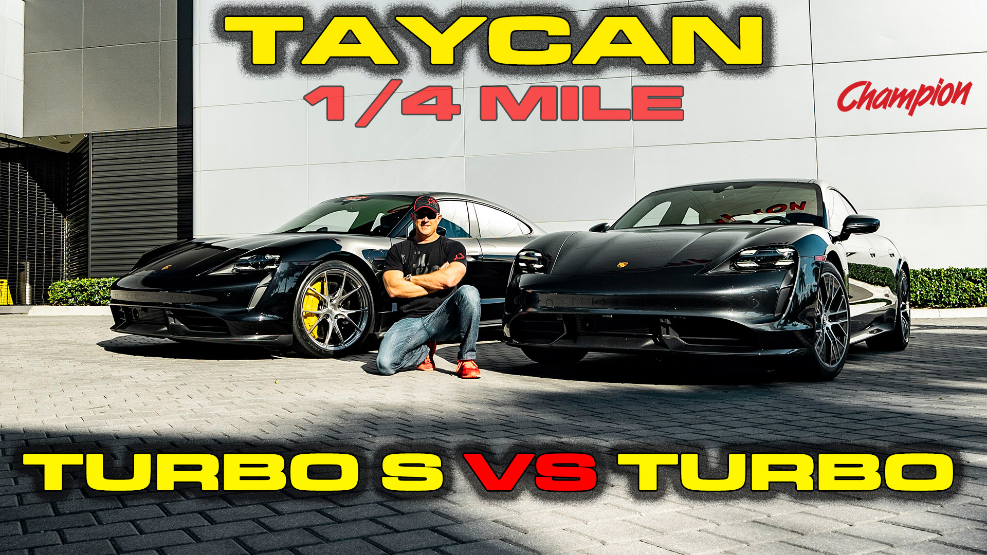 Porsche Taycan Turbo S vs Turbo 1/4 Mile State of Charge Testing