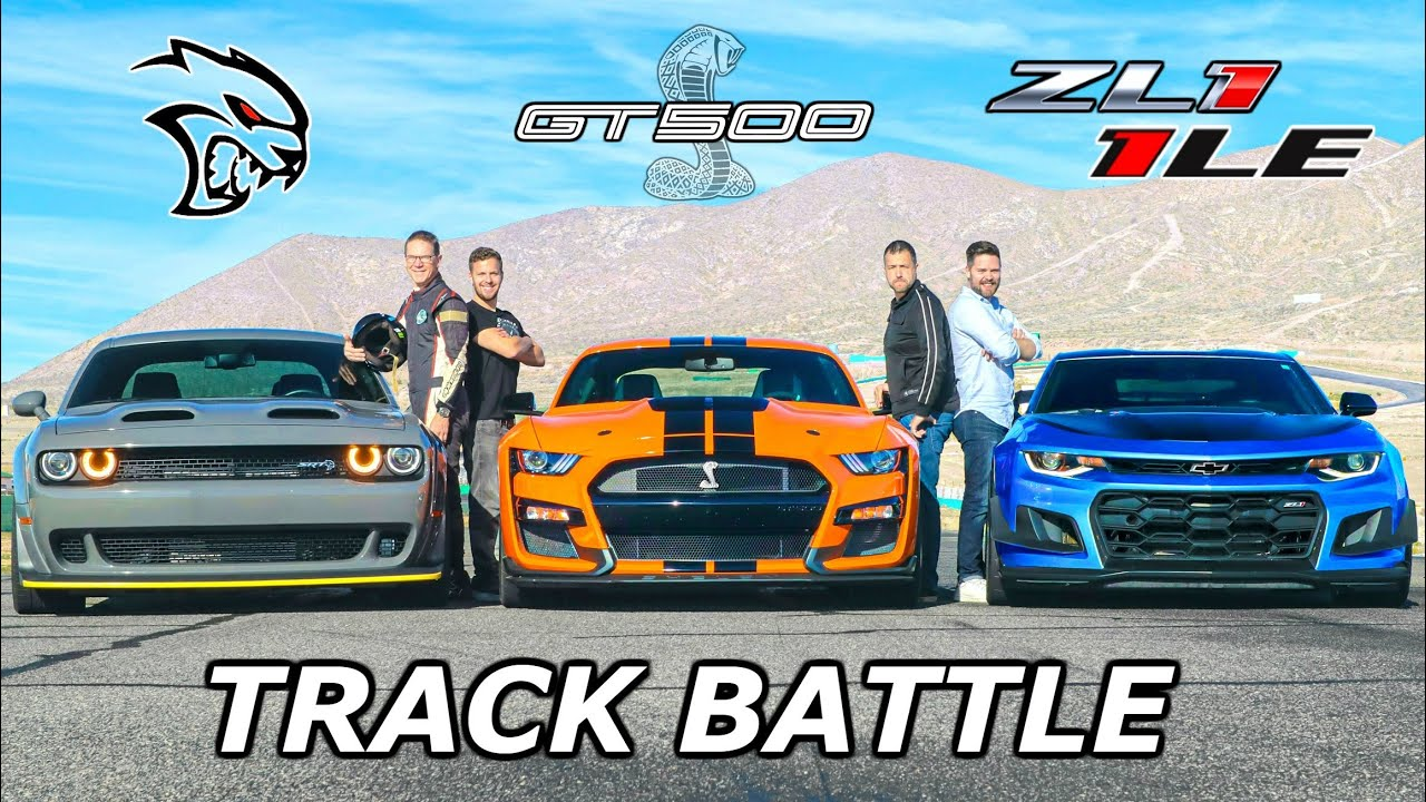 American Track Battle – Redeye vs ZL1 1LT vs GT500
