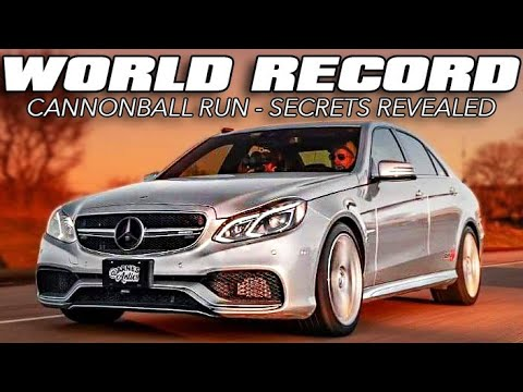 Record Busting Cannonball Mercedes