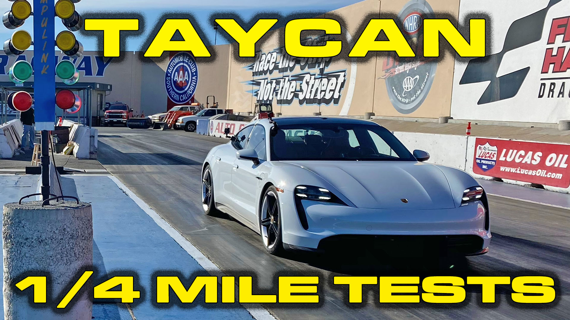 FIRST Porsche Taycan Turbo S run down the 1/4 Mile