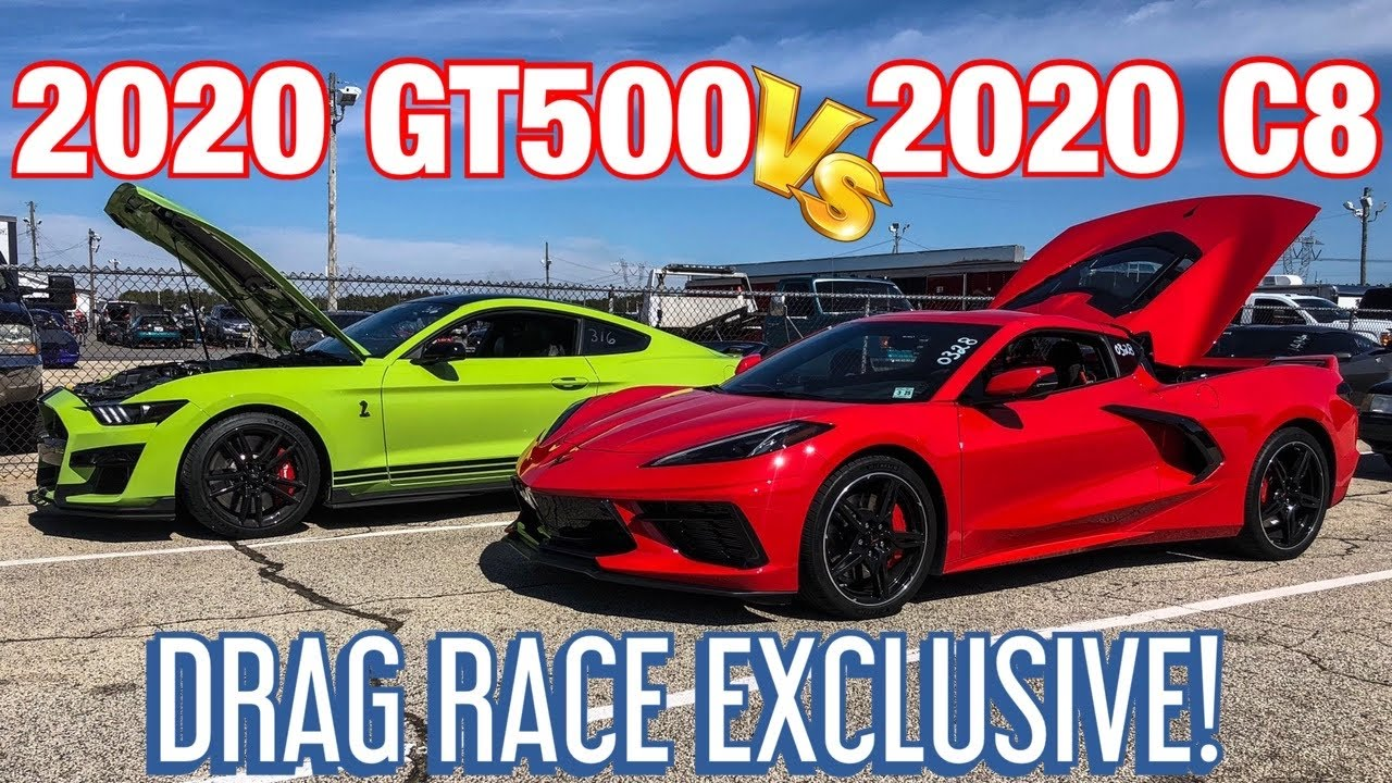 2020 C8 Corvette vs. 2020 Ford Mustang Shelby GT500 – Drag Race
