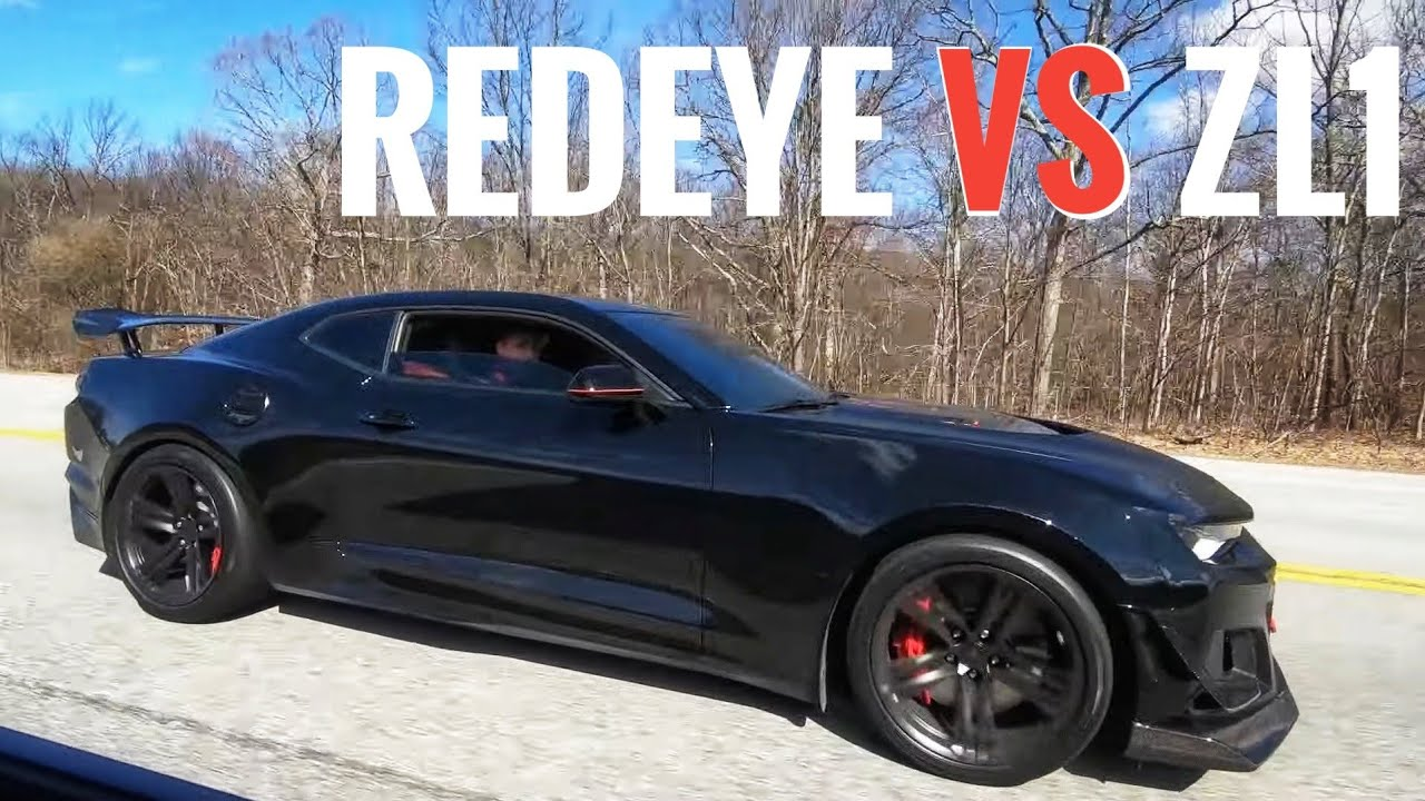 Hellcat Redeye vs. Camaro ZL1 Corvette and Godzilla – Street Hits