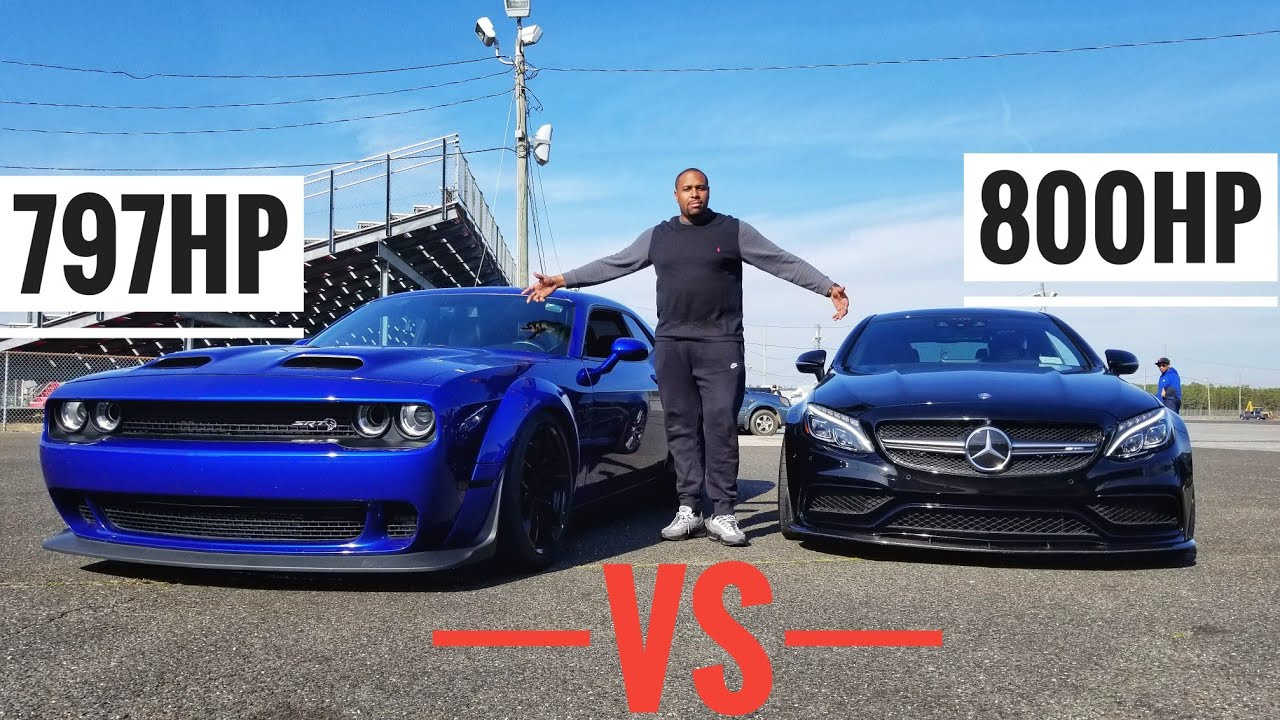 Dodge Challenger Hellcat Redeye vs. Mercedes-Benz C63 S AMG With Turbo Mods