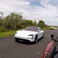 Taycan vs Tesla Model S Drag Race