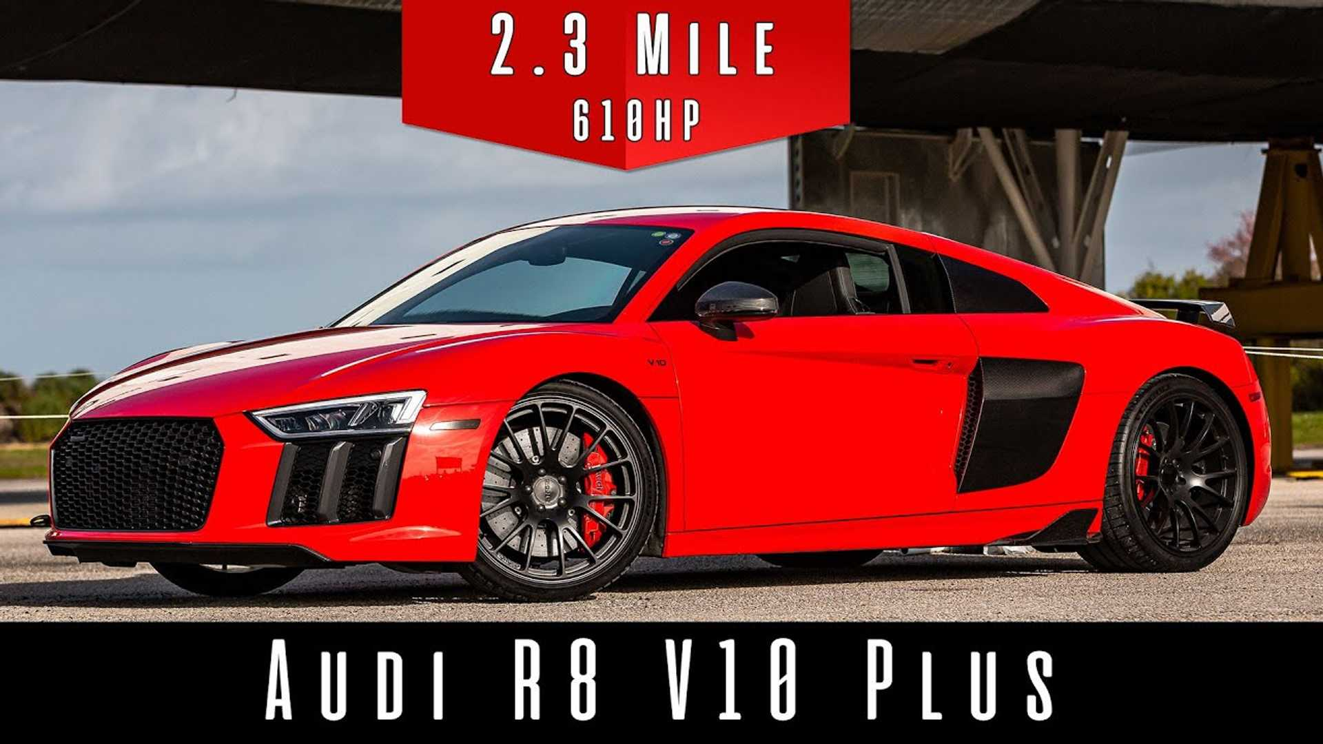 Audi R8 V10 Plus – 202 MPH Top Speed Run