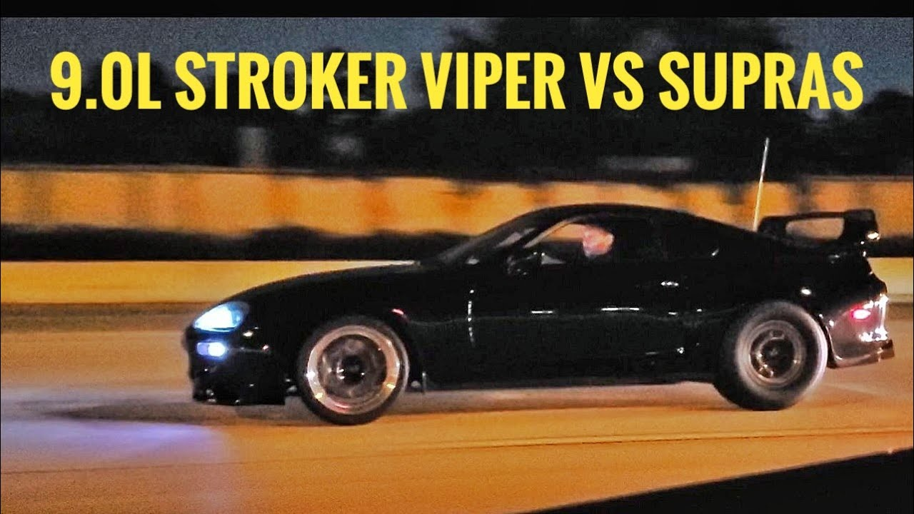 NA Dodge Viper Ambushes Toyota Supra Cruise – Street Hits