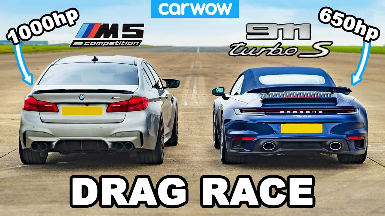 Drag Race – 1000HP BMW M5 vs. Porsche 911 Turbo S
