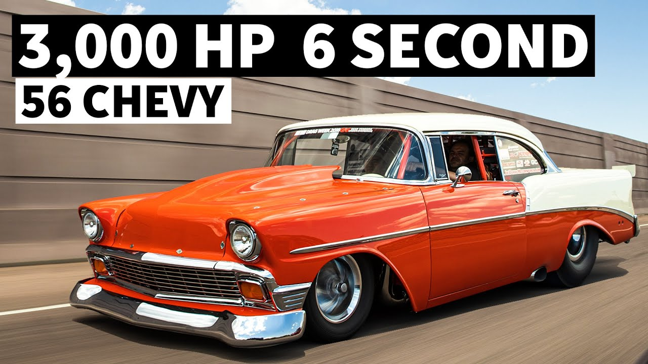 Creamsicle 1956 Chevrolet – 3000+HP Twin Turbo Monster