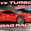 911 Turbo S vs Ferrari F8 Drag Race