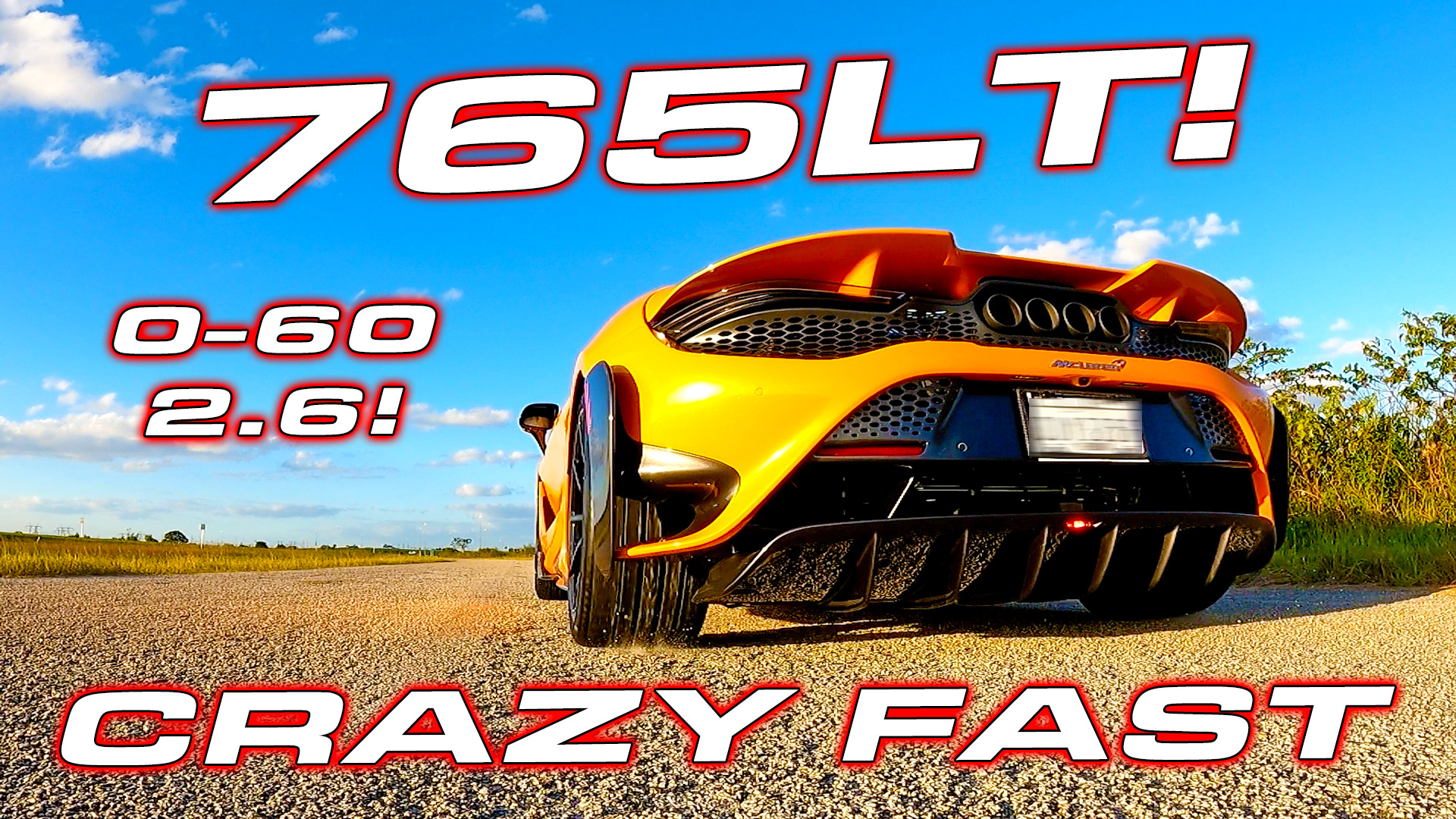 McLaren 765LT 1/4 Mile Street Testing – Quickest Production Car?