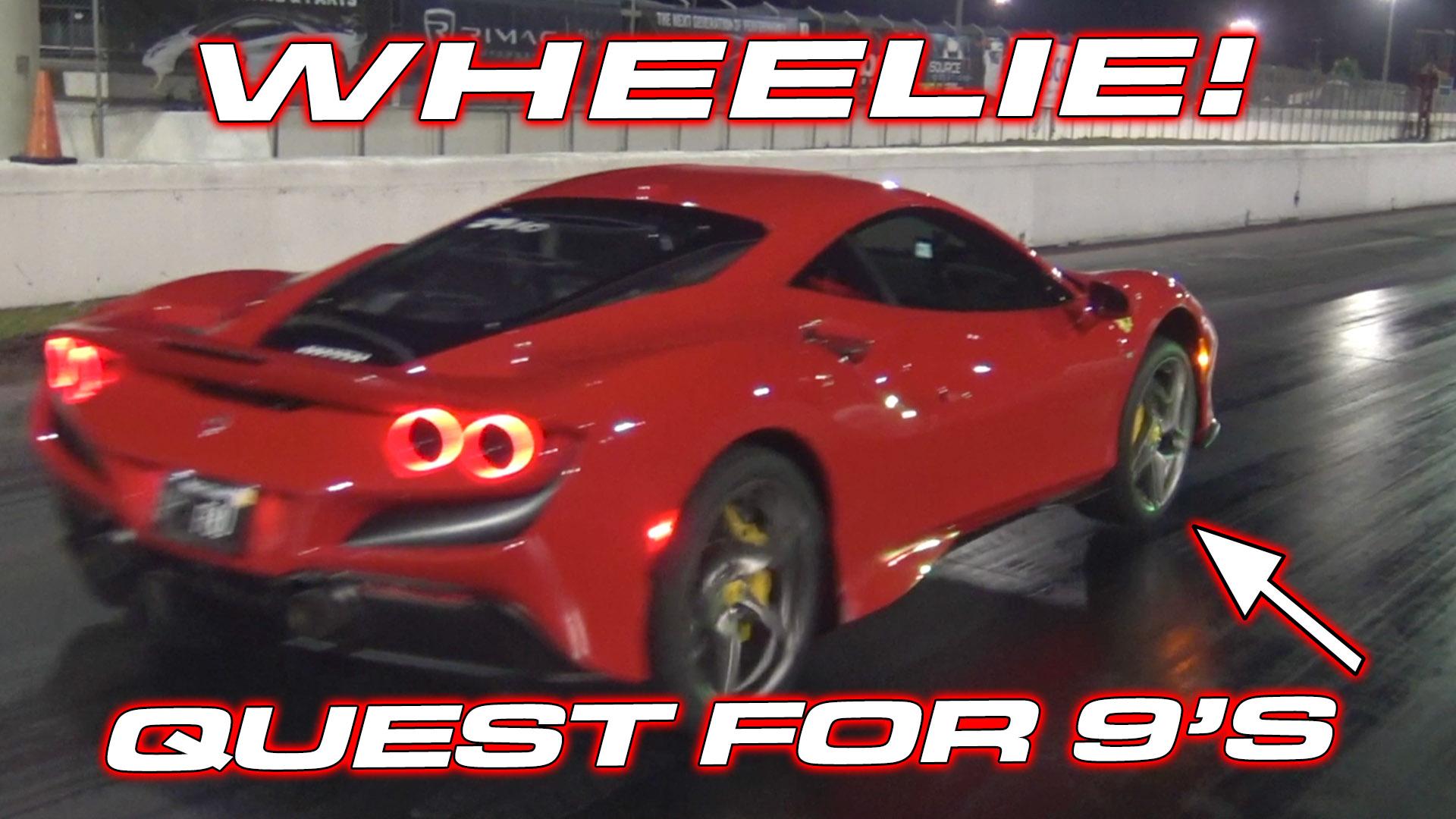 Ferrari F8 Wheelie