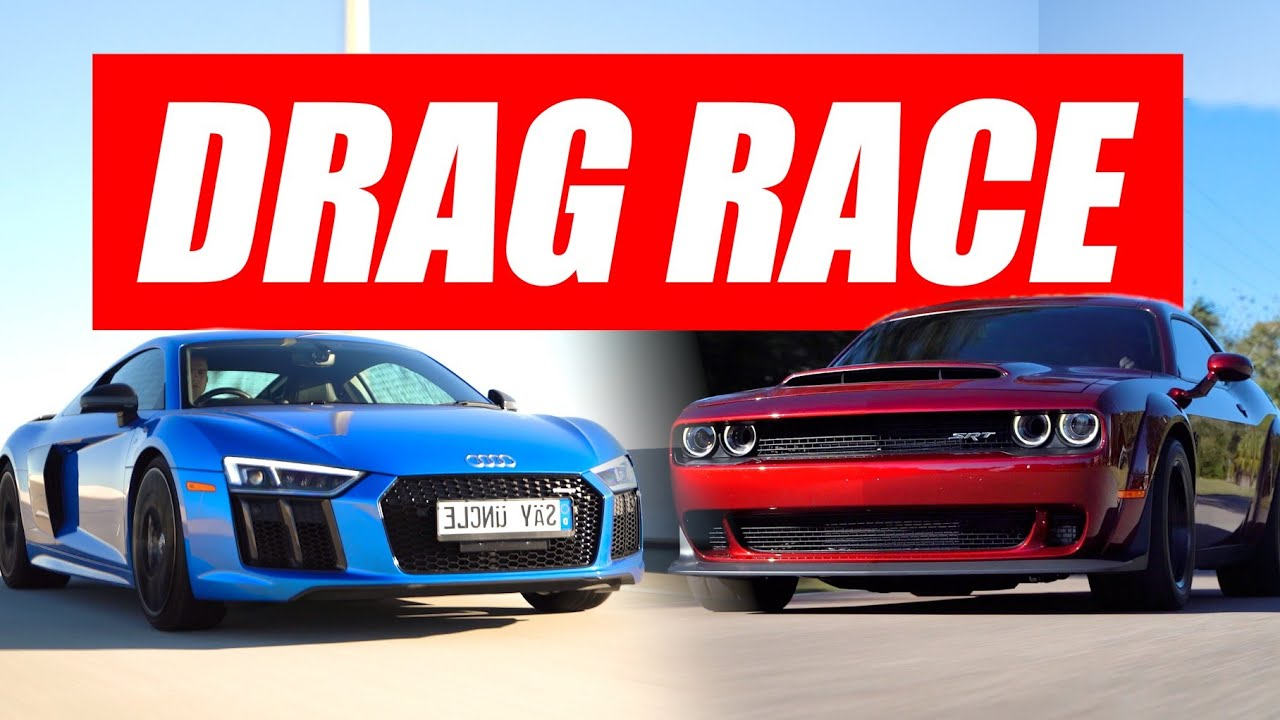 Dodge Demon vs. Audi R8 V10 Plus – 60 MPH Street Hits