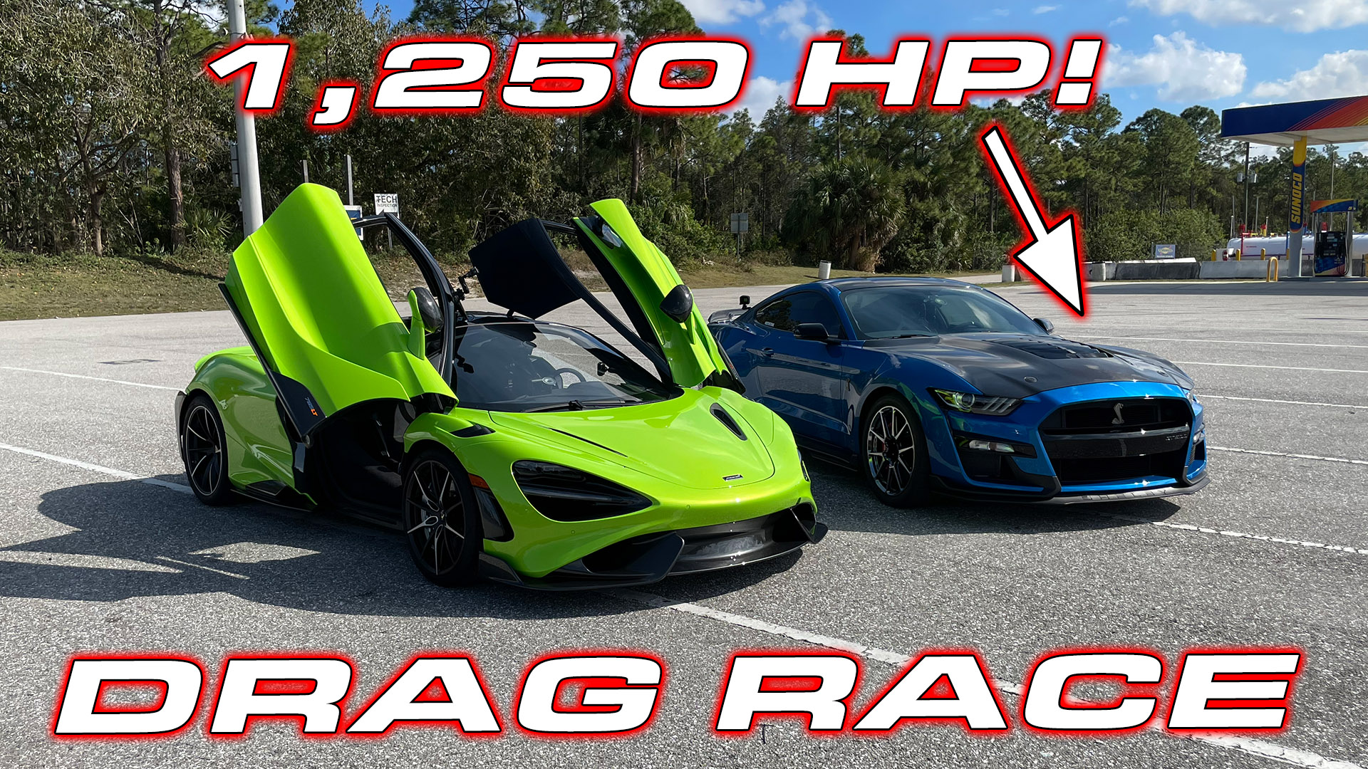 McLaren 765LT takes on 1,250HP Shelby GT500