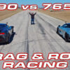 SF90 vs 765LT DragTimes Brooks Weisblat