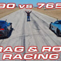 SF90 vs 765LT DragTimes Brooks Weisblat