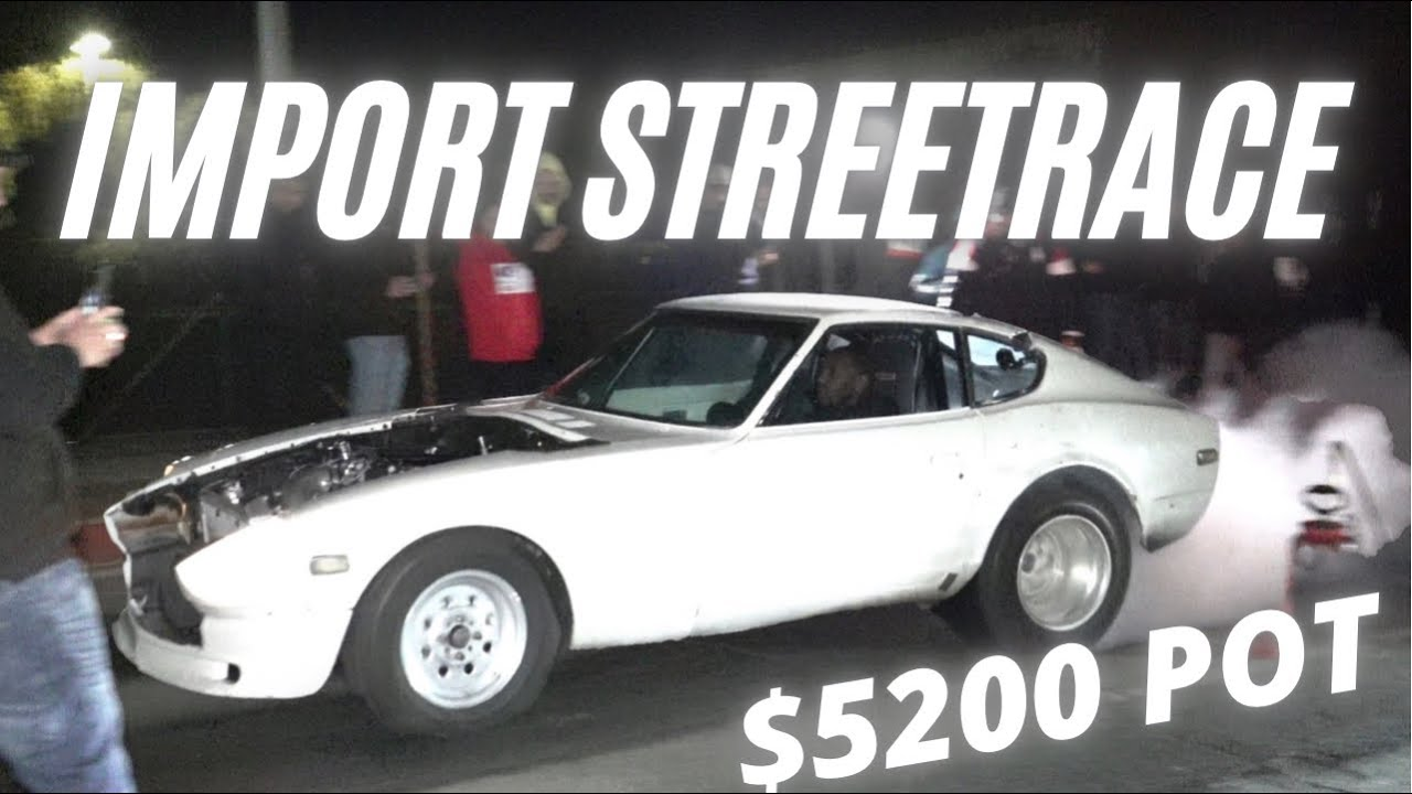 Dueling Datsuns – LS Swapped Imports Big Money Street Race
