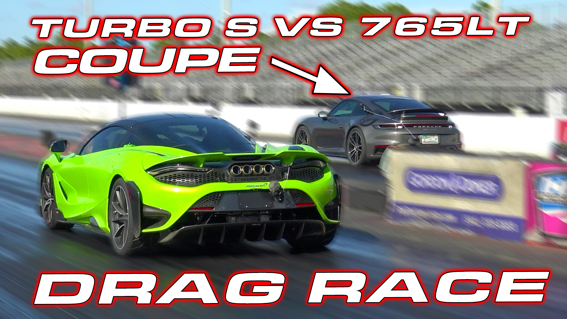 McLaren 765LT vs Porsche 992 Turbo S Drag Race
