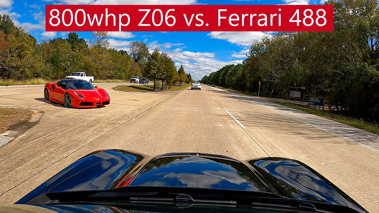 LMR 800WHP C7 Z06 Build Embarrasses Stock Ferrari 488