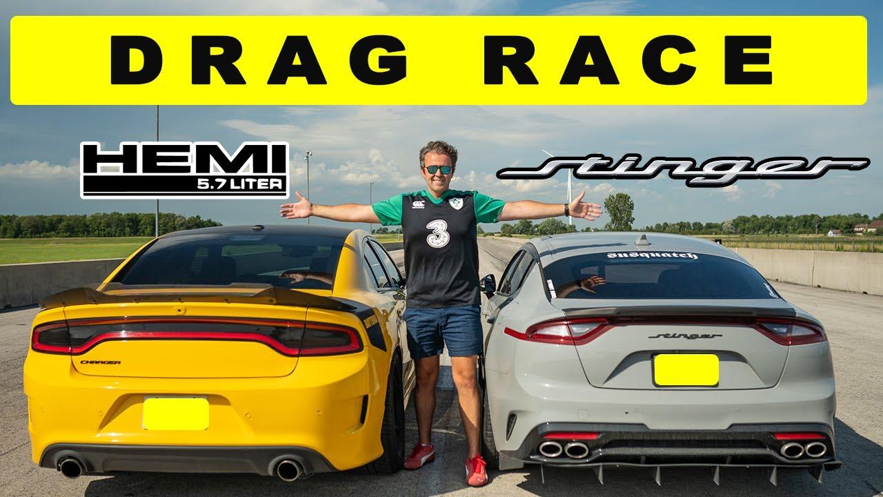 Dodge Charger Daytona Yellow Jacket vs. Kia Stinger GT – Roll and Dig