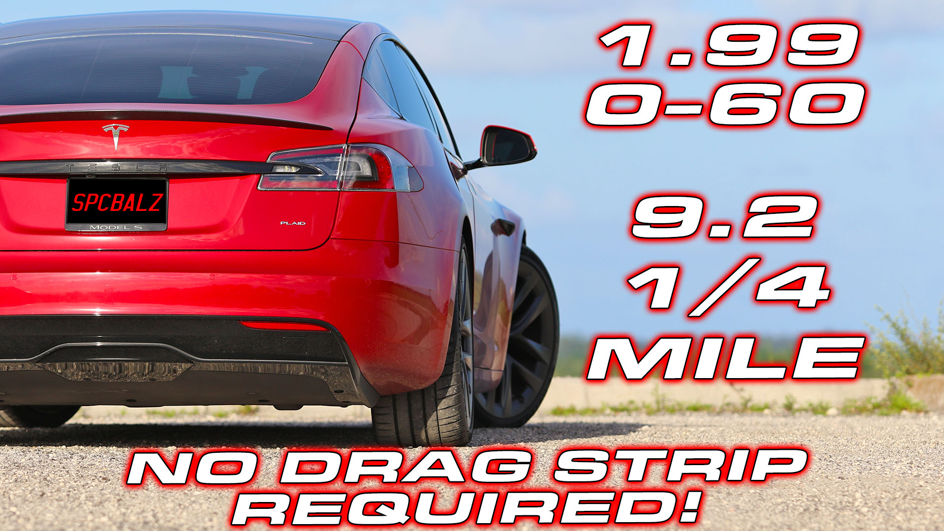 Tesla Plaid Model S runs 0-60 MPH in 1.99 Seconds on the Street
