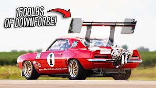 BIG RED Camaro Goes 216 MPH in Standing Half-Mile