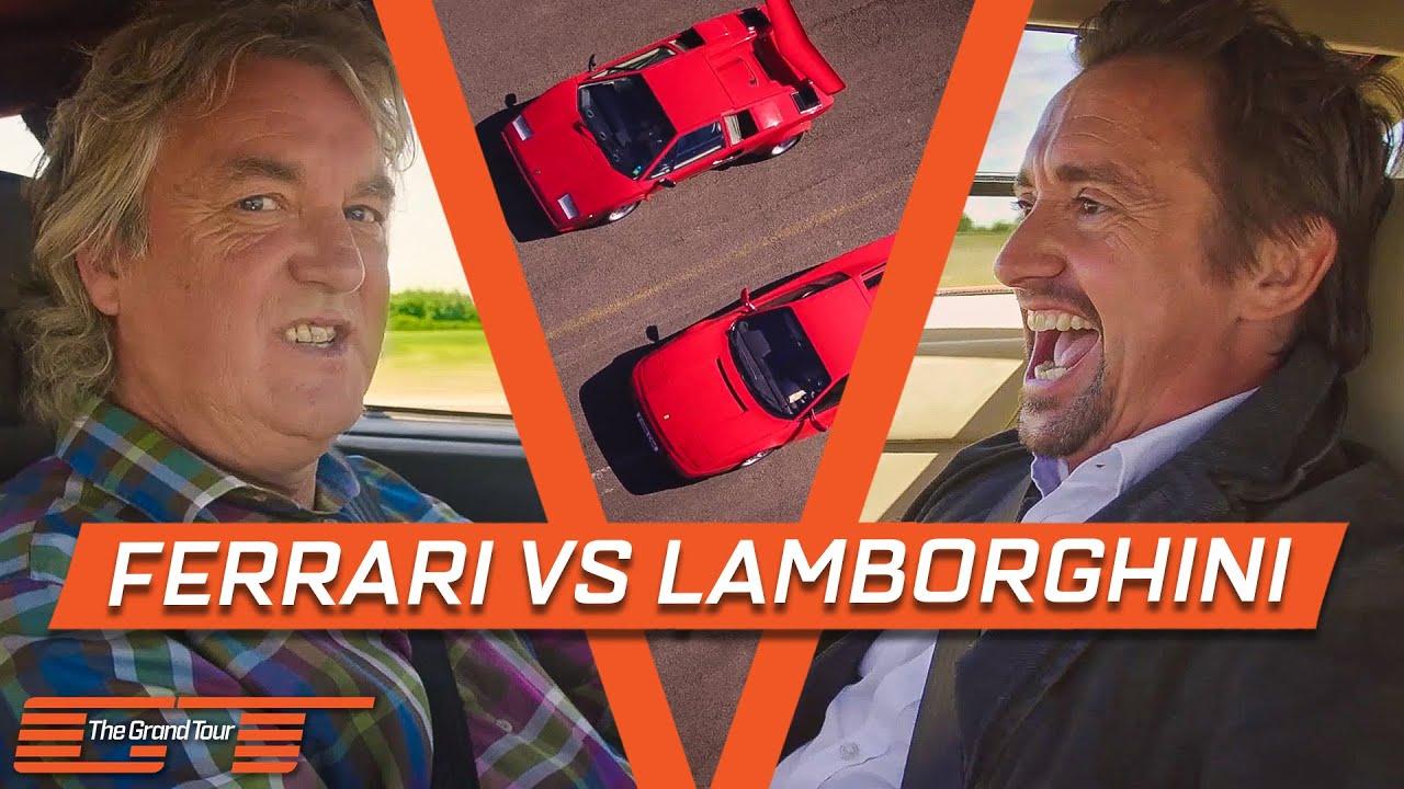 Eighties Drag Race – Ferrari Testarossa vs. Lamborghini Countach