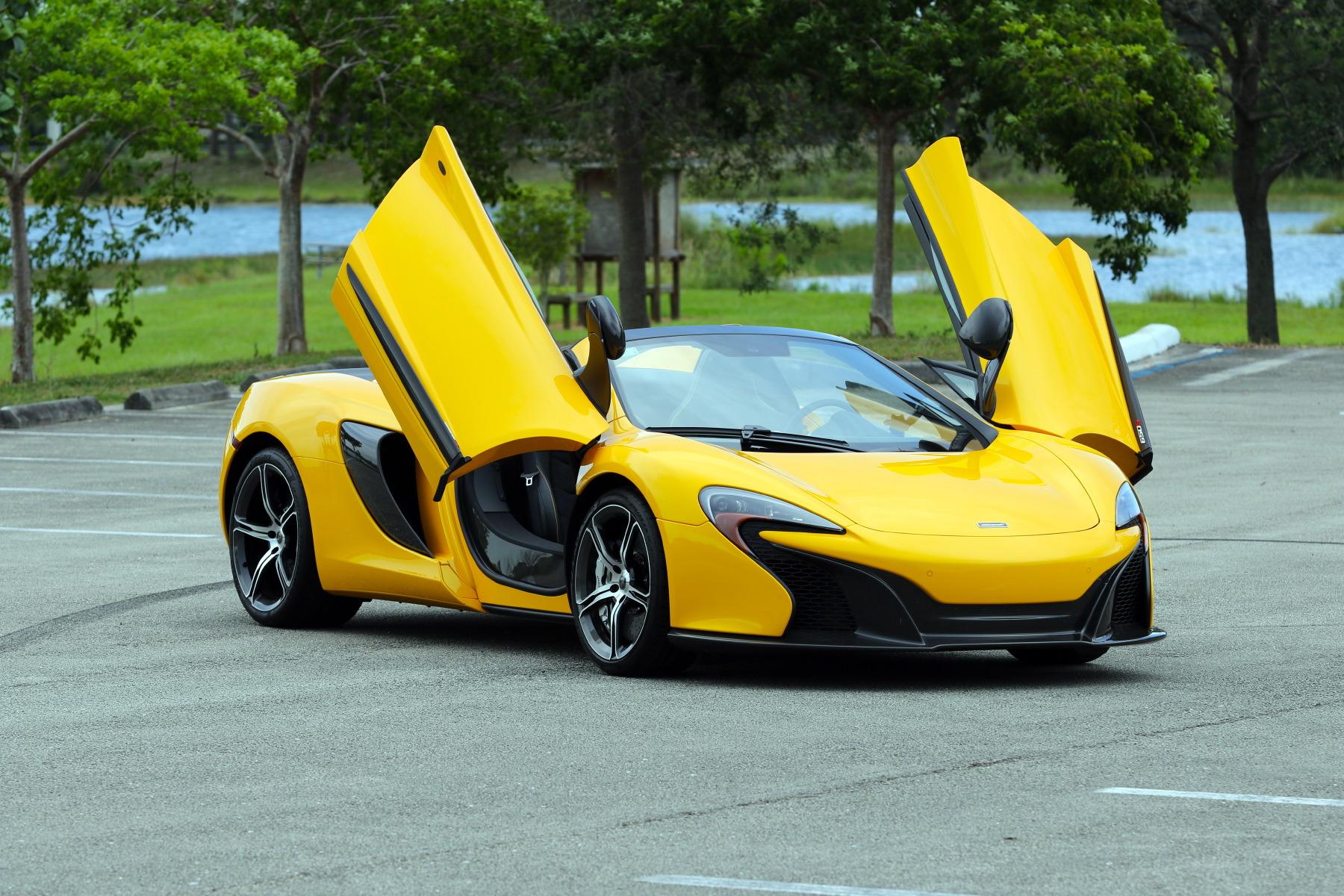 2015 McLaren 650S Spider Volcano Yellow Picture Gallery