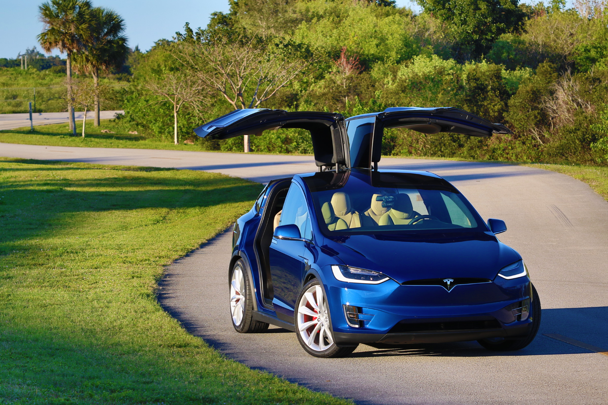 2016 Tesla Model X P90D Deep Blue Metallic Picture Gallery