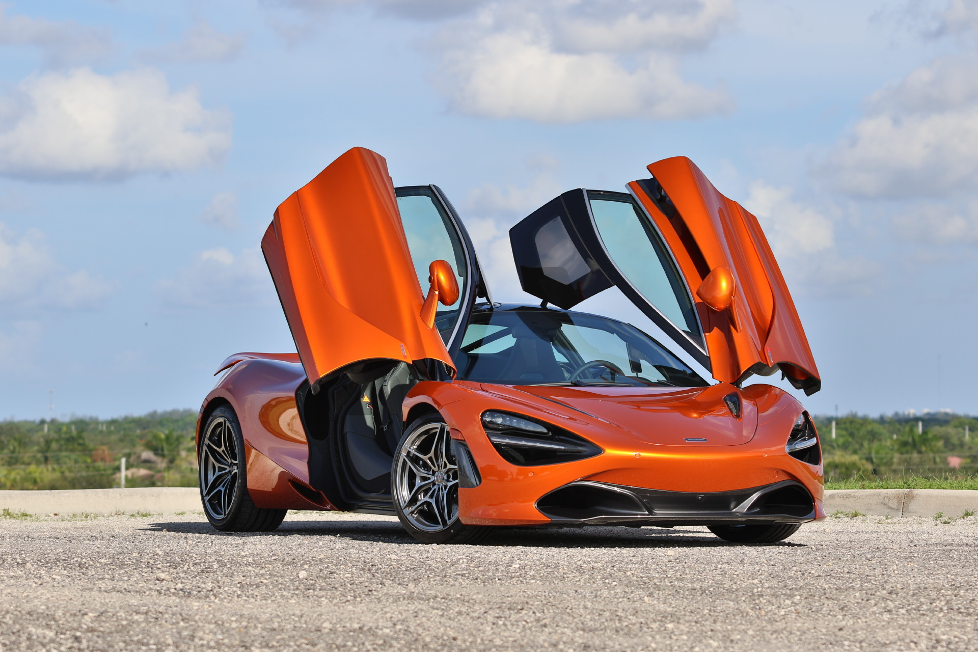 Mclaren 720s Delivery First Drive And Photo Drone Gallery