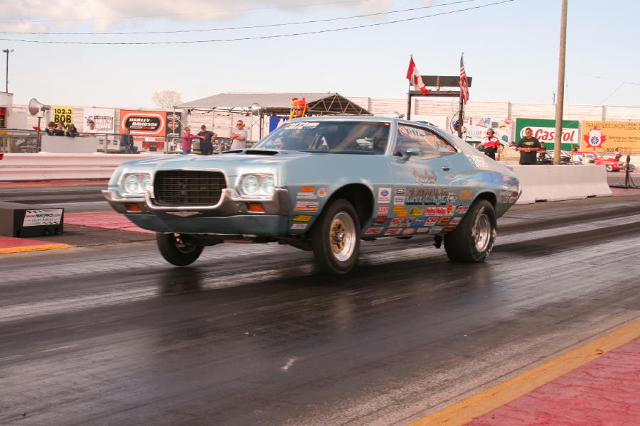 1972 Ford Torino Gran Torino Sport 1/4 mile Drag Racing trap speed 0 ...