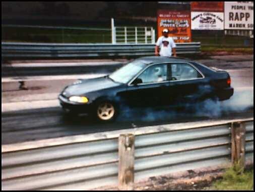 1994 Honda Civic 4door LX Turbo 14 mile Drag Racing timeslip